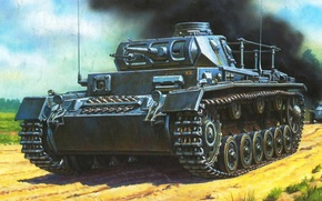 Picture German medium tank, PzKpfw III, Sd.Car. 141, Panzerkampfwagen III