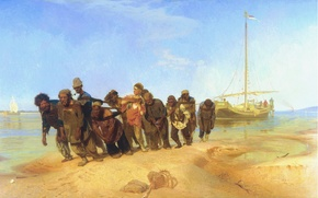 Picture picture, Repin, barge haulers on the Volga