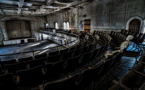 Picture ruins, bones, abandoned, skeleton, decay, opera house