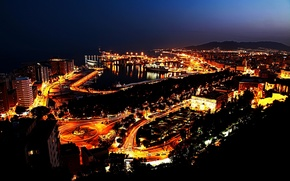 Picture machine, the city, lights, the ocean, home, street