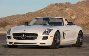 Picture Roadster, Mercedes-Benz, the front, SLS, car, AMG, Roadster