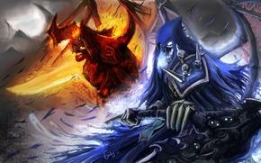 Picture death, war, demon, demons, war, darksiders, death, the horsemen of the Apocalypse, the Nephilim