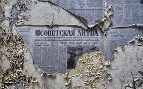Wallpaper background, wall, newspaper
