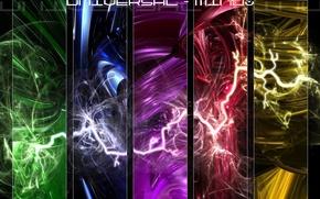 Wallpaper style, bright, universal, zipper, universal thinking, lightning, the idea, the universe, element, elements