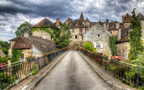 Picture road, bridge, the city, photo, France, Carnac