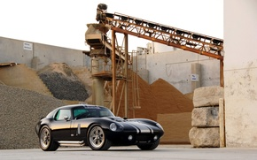 Picture Shelby, Front, Coupe, 2009, Cobra, Factory, Daytona, Shelby Cobra Daytona Coupe, Superformance, Black car