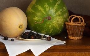 Picture watermelon, BlackBerry, melon