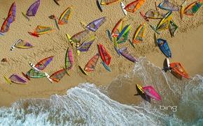 Picture sand, sea, wave, beach, Hawaii, Windsurfing