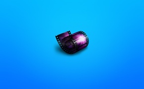 Wallpaper movie, minimalism, cinema, film, film, bluish background, cinema