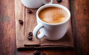 Picture foam, table, coffee, grain, Cup, white