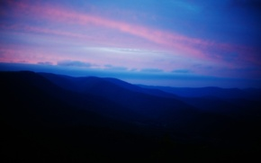Picture the sky, landscape, mountains, the slopes, morning