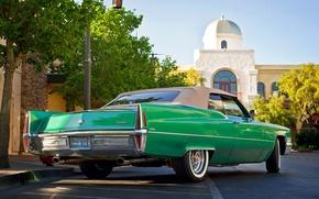 Picture retro, Cadillac, classic, 1970, Convertible, City