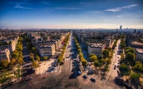 Picture the sky, France, Paris, horizon, street, Champs Elysees