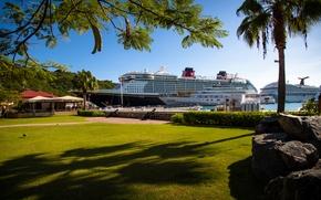 Picture island, yacht, Caribbean, mega yacht, yacht haven grande, Disney fantsy, St.Thomas, cruise liner, Carinval Fredom., …
