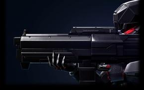 Picture weapons, fiction, soldiers, XCOM, futurism, advent, x-com