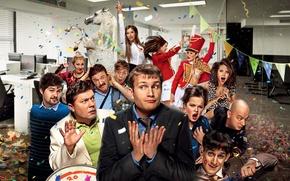 Wallpaper fun, Nikolay Naumov, party, office, Comedy, Corporate