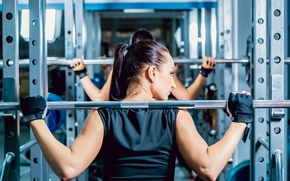Picture back, female, workout, fitness, gym