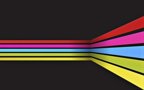 Wallpaper rainbow, paint, lines, abstraction, stripes, strip, lines, colors, abstraction, rainbow, 2560x1600