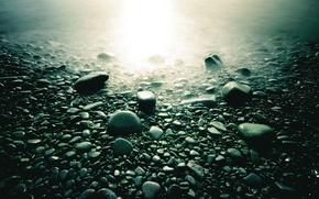 Wallpaper macro, light, stones, photo