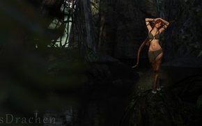 Picture Fantasy, Render, Fawn, Forest, Bow