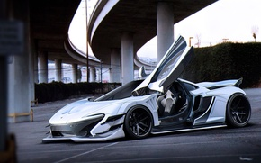 Picture McLaren, White, Tuning, Future, Supercar, by Khyzyl Saleem