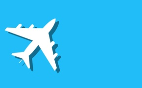 Picture the plane, background, minimalism