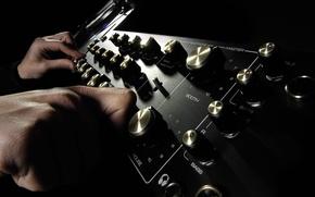 Picture black, fingers, amplifier