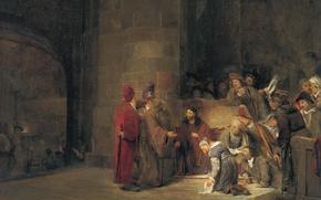 Picture picture, religion, mythology, Art de Gelder, Christ and the Sinner
