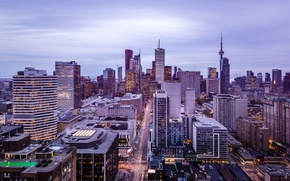 Picture city, Canada, skyline, skyscraper, Ontario, Toronto, downtown, CN Tower, Capital