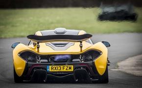 Picture McLaren, Yellow, Machine, McLaren, Exhaust, Flame, Car, Supercar, Yellow, Supercar