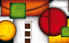 Picture lines, color, figures, geometry