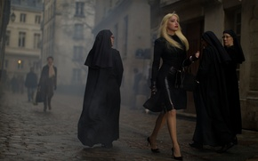 Picture latex, nun, 3 day murder, glamorous, the opposite