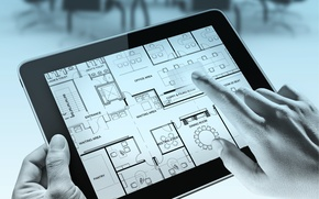 Picture fingers, tablet, desing