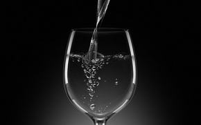 Picture water, bubbles, Glass