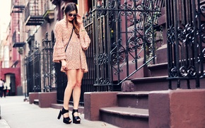 Picture girl, the city, street, street style