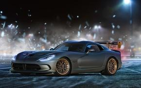 Picture Dodge, Car, Viper, Grey, Colors, Wheels, ADV.1, Autemo