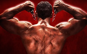 Picture cinema, man, muscles, movie, killer, film, head, powerful, strong, Bollywood, muscular, scar, neck, Telugu, Indian …