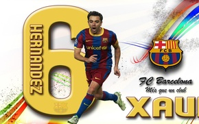 Picture wallpaper, sport, football, player, FC Barcelona, Xavi Hernandez, My As a Club, More Then a …
