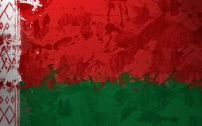 Wallpaper flag, flag, Belorussia, Belarus