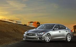 Picture Infiniti, sedan, vossen wheels, frontside, Q50S