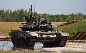 Wallpaper Russia, t-90, tank, forest
