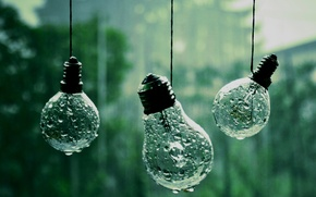 Wallpaper drops, macro, photo, background, rain, Wallpaper, rope, light bulb, different