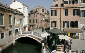 Picture Home, Street, Channel, Italy, Venice, Building, Italy, Bridge, Venice, Italia, Venice, The bridge, Canal