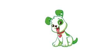 Picture art, puppy, dog, children's