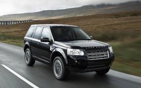 Picture bridge, hills, speed, Land Rover