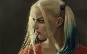 Picture girl, figure, art, blonde, braids, character, Harley Quinn, Harley Quinn, Margot Robbie, Margot Robbie, Suicide ...