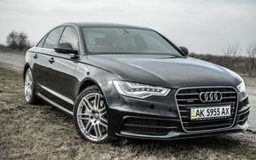 Picture Audi, Audi, Black, Audi A6 C7, LEDs