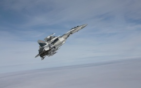 Wallpaper jet, Wallpaper, Russian, multipurpose, super-maneuverable, 4++, the plane, Russia, OKB, generation, dry, BBC, su-35S, fighter, ...