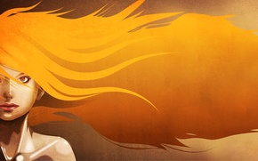 Wallpaper look, rendering, girl, hair