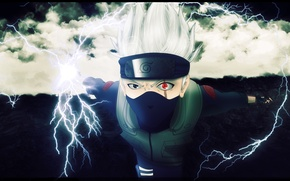 Picture naruto, sharingan, hatake kakashi, naruto. scar, the evil eye